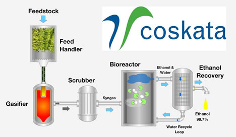 Coskata ethanol process