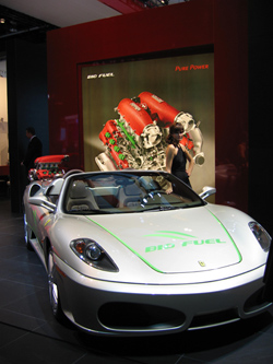 Ferrari Bio-fuel at the Detroit Auto Show