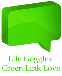 Life Goggles Green Link Love Logo