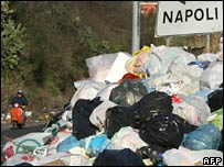 Naples rubbish mountain