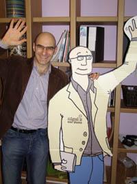 Nigel with cutout